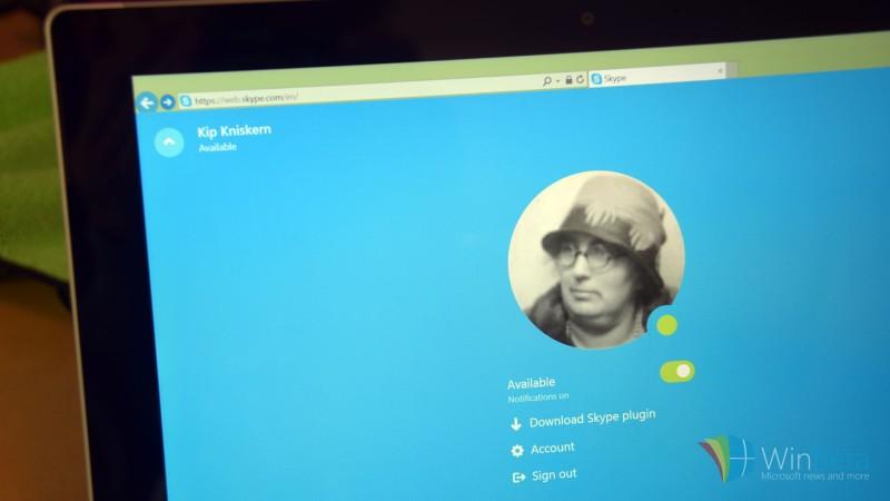 Muonekano wa Skype kupitia mtandao wa Skype for Web