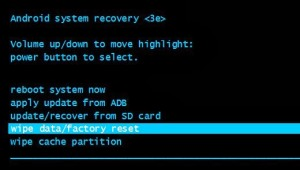 Hard reset android phone