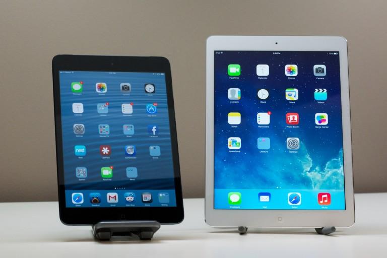 Kwa sasa toleo la iPad lenye umbo dogo, inchi 7, ndiyo linauzika zaidi kuliko lile kubwa