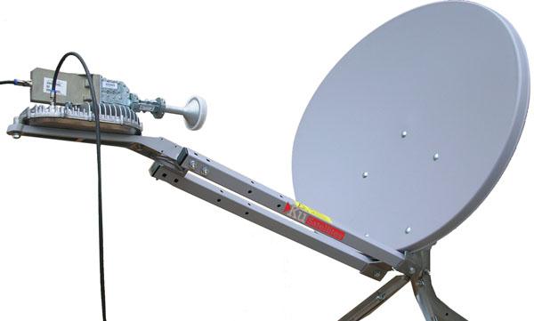 Muonekano wa dishi linaloweza kupokea signal za intaneti zinazorushwa na satelaiti ya teknolojia ya Ka - band