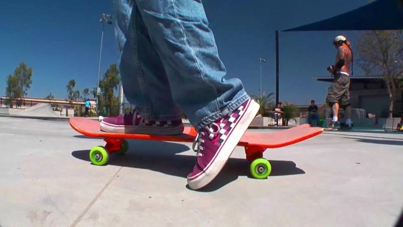 Muonekano wa Skateboard ya kawaida.