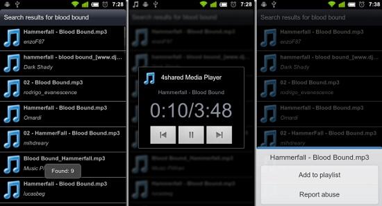4Shared-Music app
