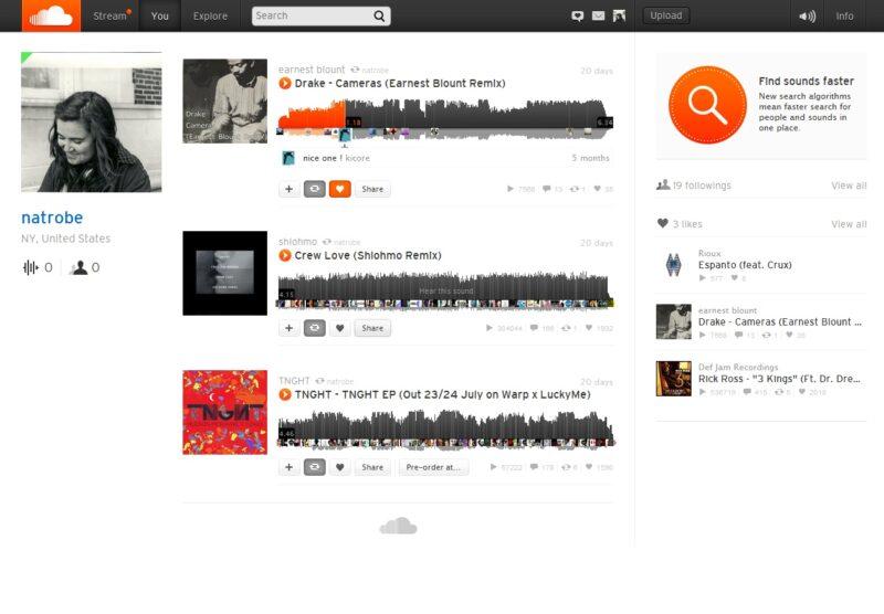 Muonekano Wa Sound Cloud muziki