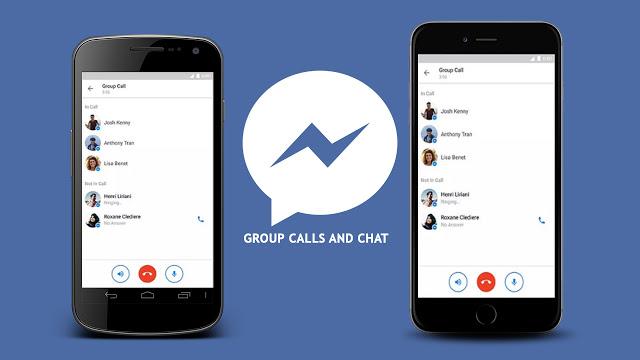 facebook messenger  kupiga simu za makundi