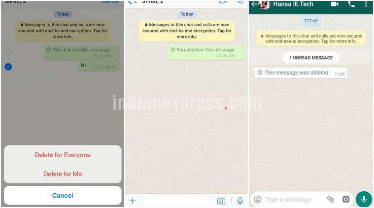 Kuusoma ujumbe uliofutwa na aliyeutuma kwenye WhatsApp
