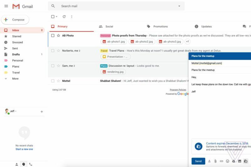 gmail barua pepe inayojifuta barua pepe zinazofutika baada ya muda